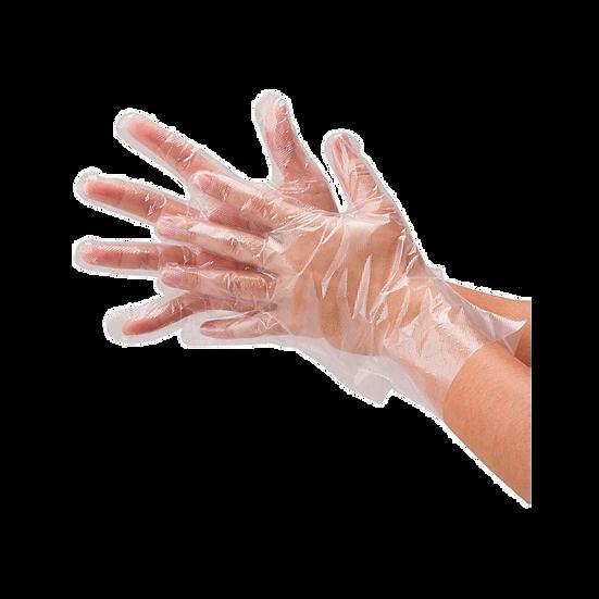 Перчатки полиэтиленовые прозрачные, L