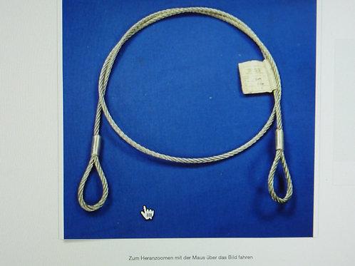 Stahlseil mit Öse Drahtseil Pressklemmen 6 mm x 1,5 Meter blau  08/01