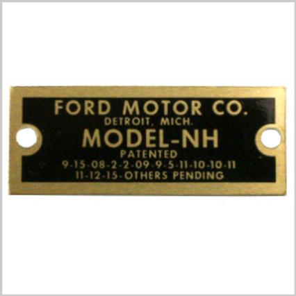 Typ-Schild Vergaser NH, Ford Model T, 1916-27,  03/02