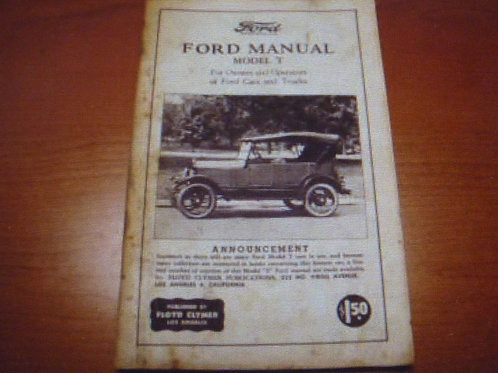 Reparaturhandbuch  Ford Model T 63 Seiten auf englisch