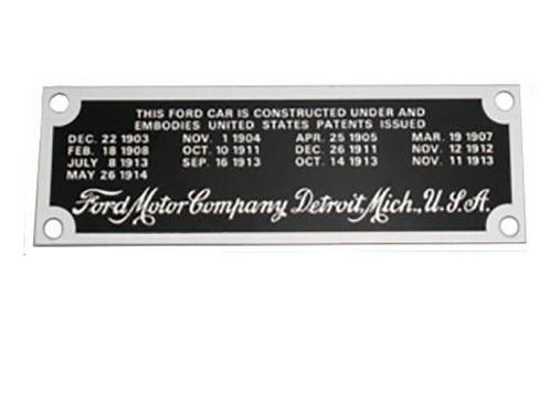 Typenschild Ford Model T, 1919-25, 04/04
