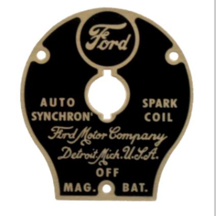 Zündschlossblende, Ford Model T, 1914-22,  04/04
