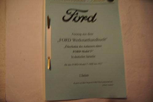 "Reparaturanleitung ""Anlasser überholen Ford Model T"" 1909-27 5 Seiten"