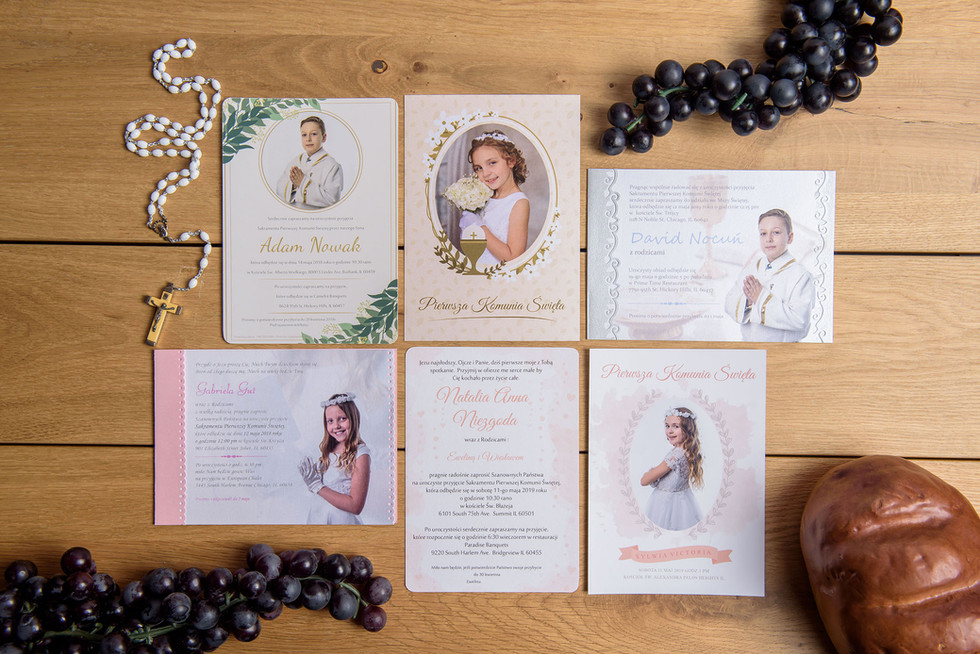 First Communion Photo Invitations