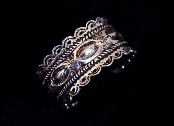 Silver Stamped Bracelet