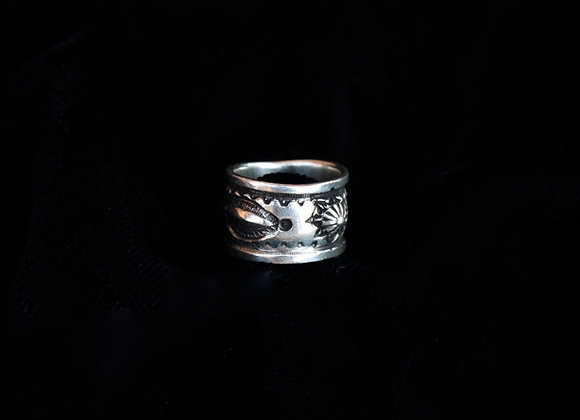 Silver Stamped Ring