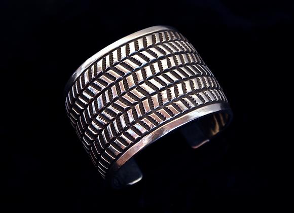Plain Silver Stamped Bracelet