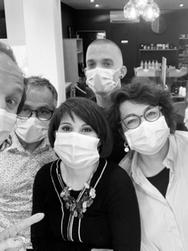 L'équipe du salon Alessandro