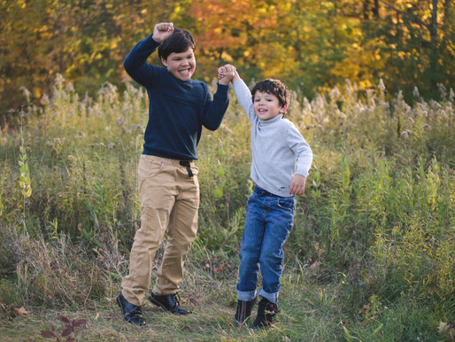 View of a Family Fall Mini Session