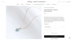 Shiny Soul Creations Aquamarine March Birthstone Necklace