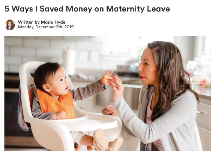 5 Ways I Saved Money on Maternity Leave