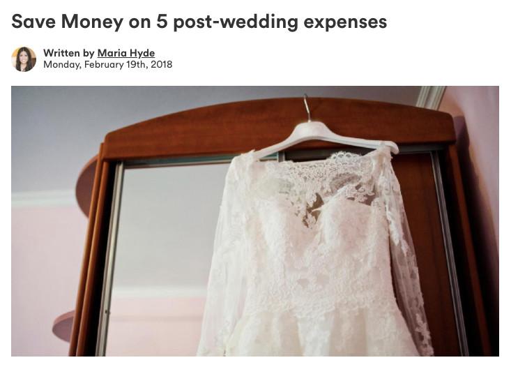 Save money on 5 post-wedding expenses