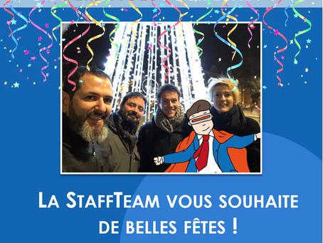 La StaffTeam vous souhaite de belles fêtes !