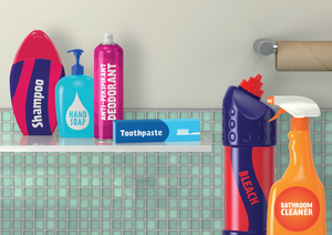Bathroom recycling items