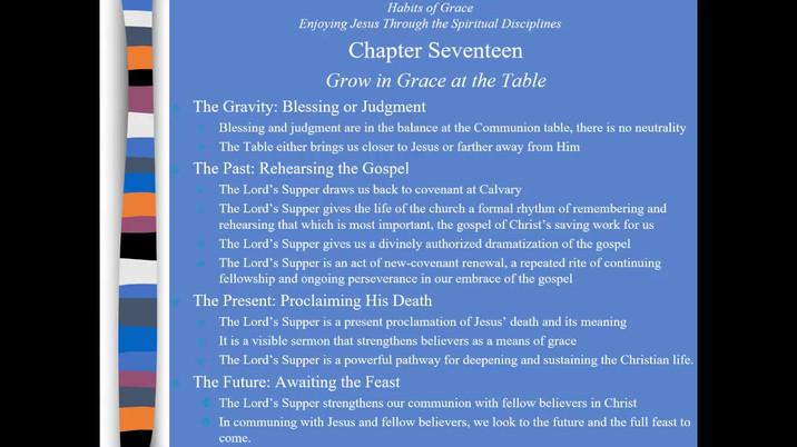 Habits of Grace Part III