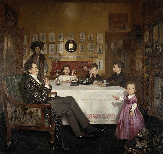 Portrait of William Nicholson, William Orpen, A Bloomsbury Family, (oils), 1908, Scottish National G