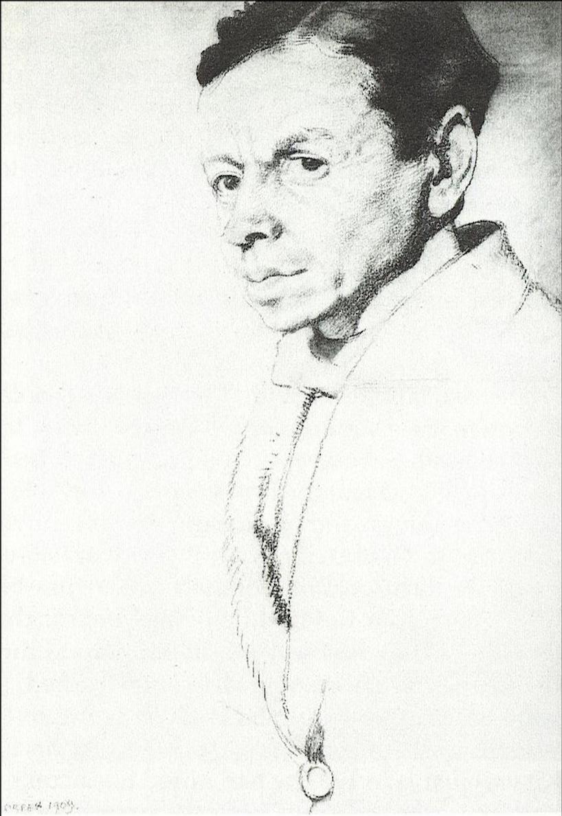 William Nicholson Portrait by William Orpen