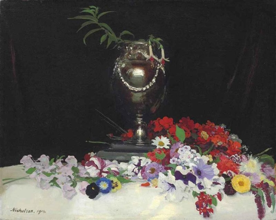 Urn and Flowers on a Table, 1914
