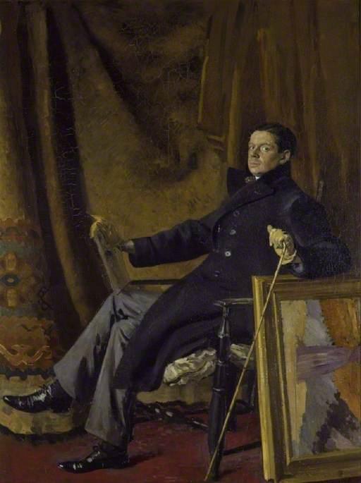 Portrait of William Nicholson, Augustus John, (oils), 1909, Fitzwilliam Museum, Cambridge