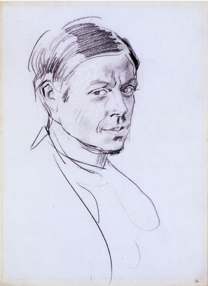William Nicholson by Augustus John Artist Portrait1