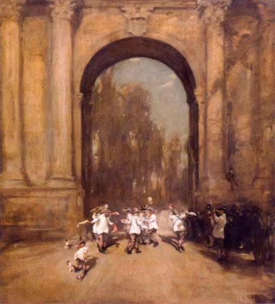 Morris Dancers at Blenheim Gate 1903