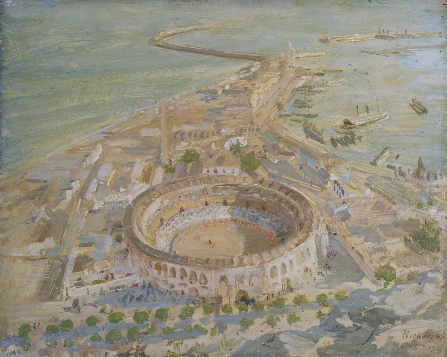 'Plaza de Toros, Malaga', 1935