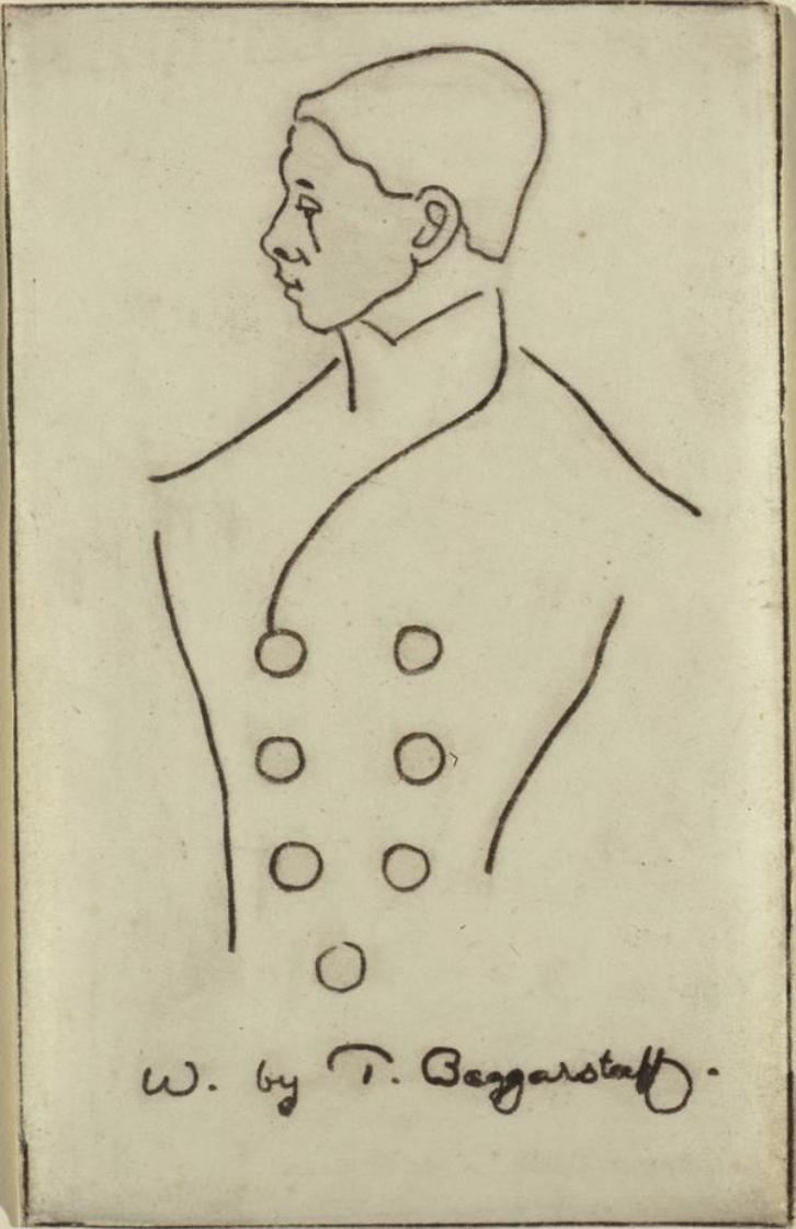 Portrait of William Nicholson, James Pryde, (lithograph), The Studio, vol XII, 1898