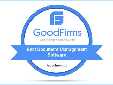 #GoodFirms.co Enlists ShareDocs Enterpriser among the Top Document Management Software