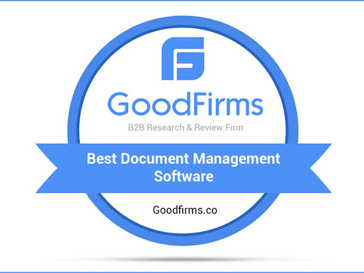 #GoodFirms.co Enlists ShareDocs Enterpriser among the Top Document Management Software