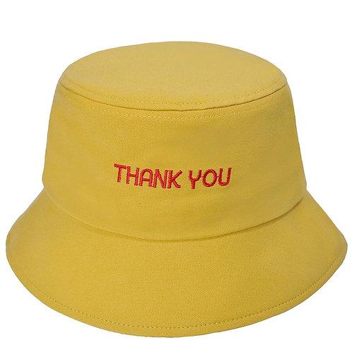 Thank you ' bucket hat yellow