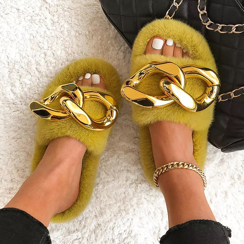 Big Cube Slippers' Gold