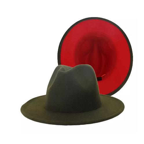 Phoneix ' Fedora Hat olive' red