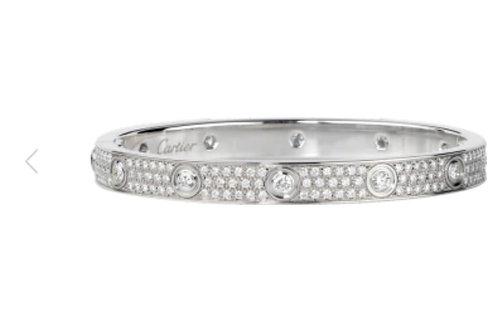 Luxury  Silver Encrusted Bangle