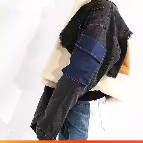 Black denim ' patchwork's jacket