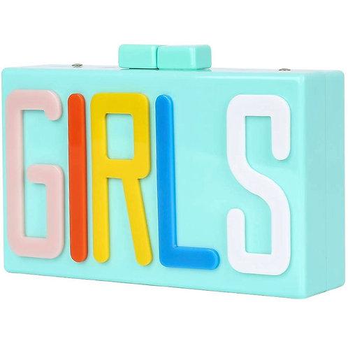 The Girls square box clutch