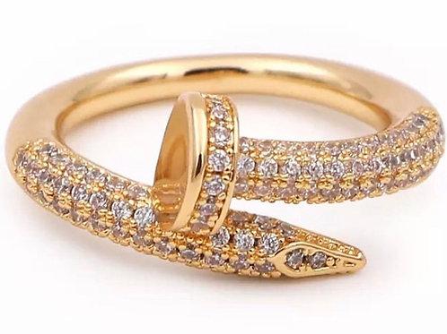 Screw me encrusted ' ring