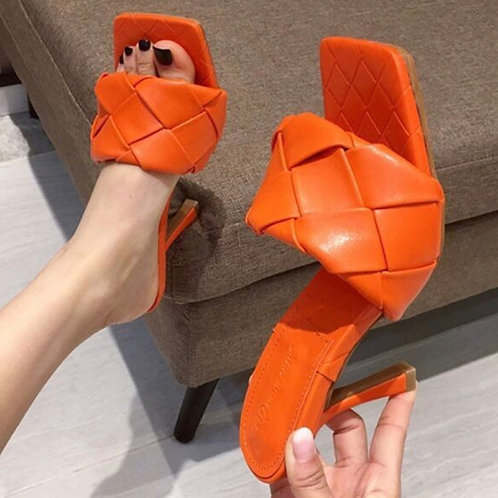 Kamala Tuffed Shoe' Orange