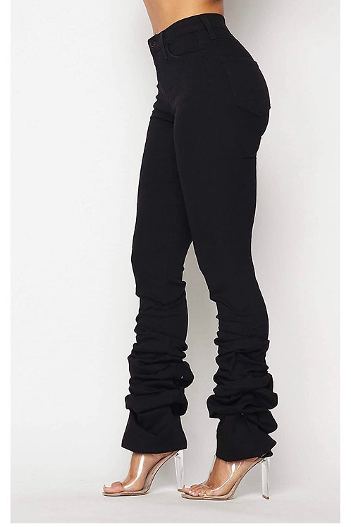 Merci' Stacked black jeans