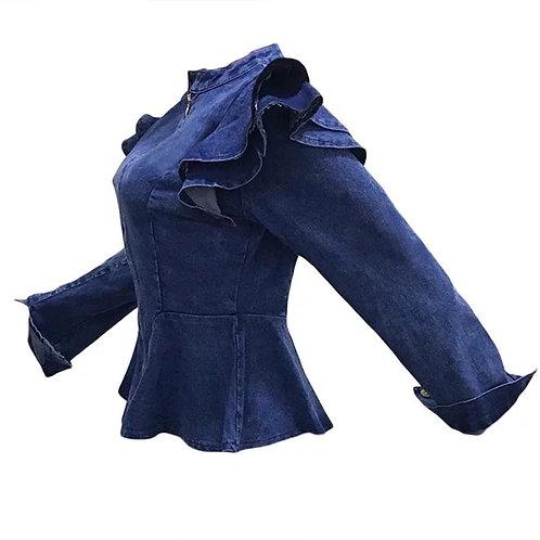 Frenchie Denim Blazee Jacket