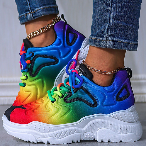 Rainbow Brite' Muti Color Sneakers