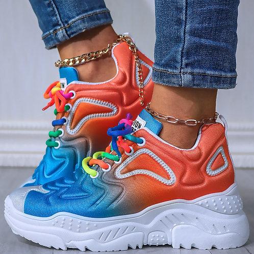 Rainbow Brite' Peach Sneakers