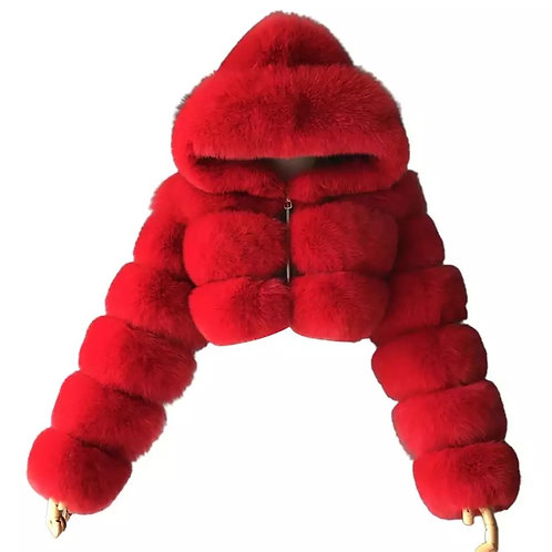 Plush  fur fashion coat