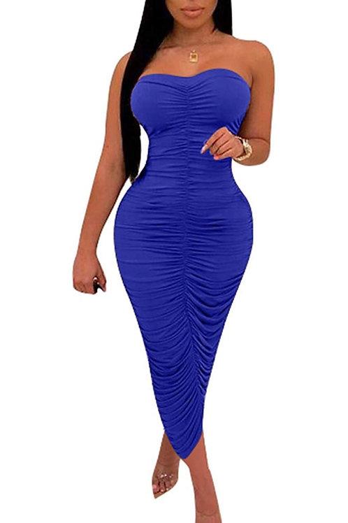 Seductive Dress ' royal blue