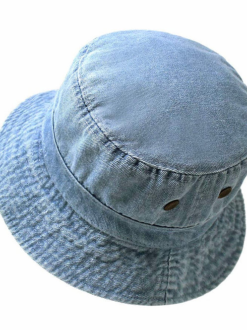 Lol light denim bucket hat