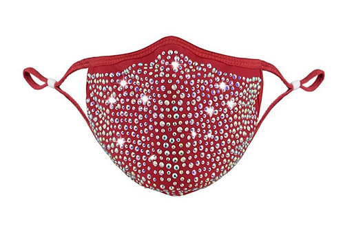 Red bedazzled mask