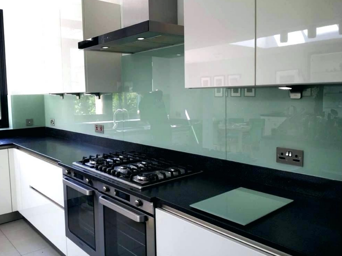 Glass panel kitchen new