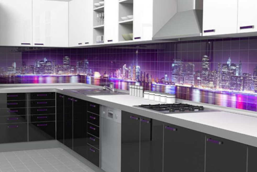 Glass Panel kitchen city