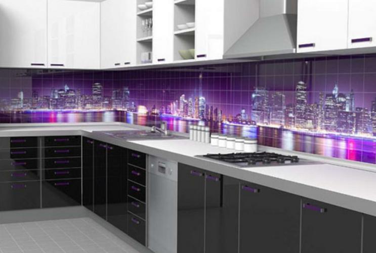 Glass Panel kitchen city