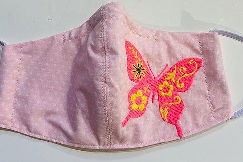 Facy Maske Rosa Schmetterling