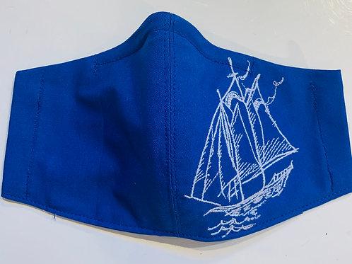 Facy Maske Blau Segelschiff